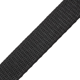 Contender Heavy Weight Dyneema Webbing Black 25mm