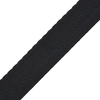 Polyester Webbing Standard Weight 25mm Black