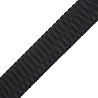 Polyester Webbing Heavyweight Black 25mm