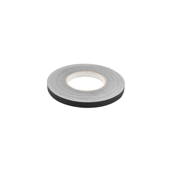 Slit Polyester Insignia Tape Black 1/2
