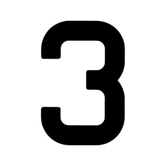 9 Inch | 235mm Polyester Insignia Black Sail Number - No 3