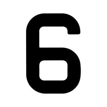9 Inch | 235mm Polyester Insignia Black Sail Number - No 6/9