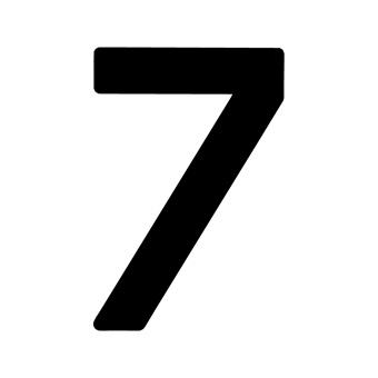 9 Inch | 235mm Polyester Insignia Black Sail Number - No 7