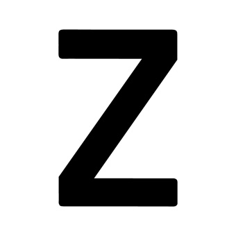 9 Inch | 235mm Polyester Insignia Black Sail Letter - Z