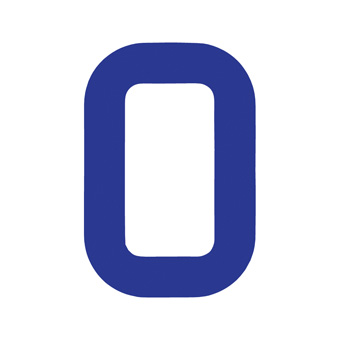 9 Inch | 235mm Polyester Insignia Blue Sail Number - No 0