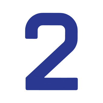 9 Inch | 235mm Polyester Insignia Blue Sail Number - No 2