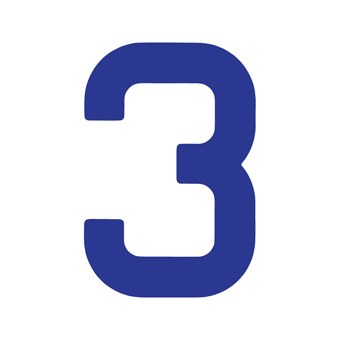 9 Inch | 235mm Polyester Insignia Blue Sail Number - No 3