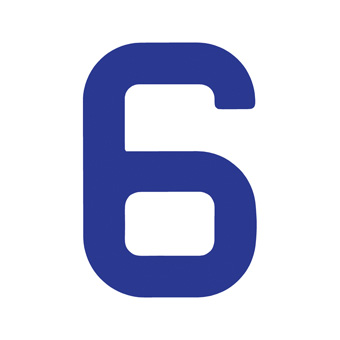 9 Inch | 235mm Polyester Insignia Blue Sail Number - No 6/9