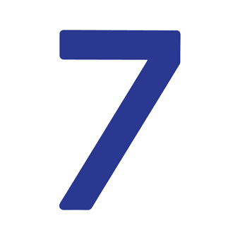 9 Inch | 235mm Polyester Insignia Blue Sail Number - No 7