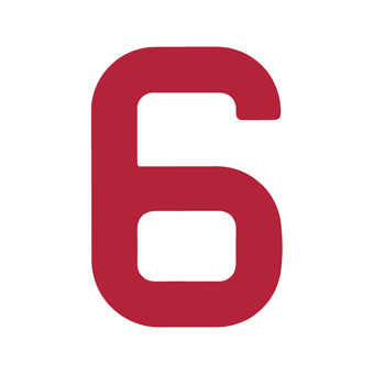 9 Inch | 235mm Polyester Insignia Red Sail Number - No 6/9