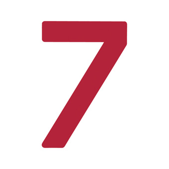 9 Inch | 235mm Polyester Insignia Red Sail Number - No 7