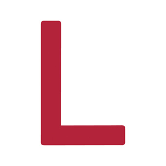 9 Inch | 235mm Polyester Insignia Red Sail Letter - L