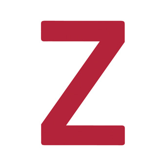 9 Inch | 235mm Polyester Insignia Red Sail Letter - Z