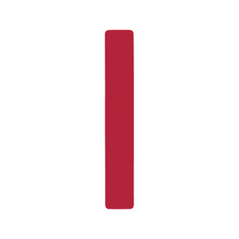 12 Inch | 308mm Polyester Insignia Red Sail Number - No 1