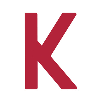 12 Inch | 308mm Polyester Insignia Red Sail Letter - K