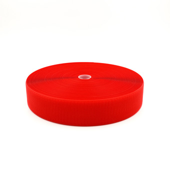 Hook & Loop - 38mm Sew-On Red Hook